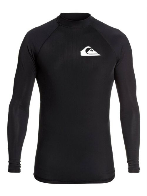 QUIKSILVER MENS RASH VEST.THERMAL HEATER UPF50+ BLACK LONG SLEEVED TOP 9W 15/KV